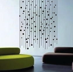 Modern Line Dot Wall Decals