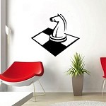 Checkers Horse Wall Decal