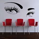 Mysterious Eyes Wall Decal
