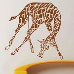 African Giraffe Wall Decal