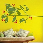 Cute Birdie on a Branch Wall Decal