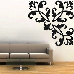 Fancy Corner Adornment(s) Wall Decal