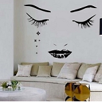 Modern Face Wall Decal