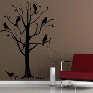Bird Tree Wall Mural Decal