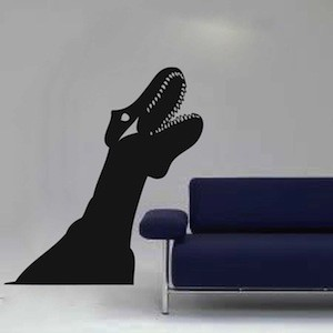Dinosaur Head Wall Decal