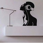 Radio Girl Wall Decal