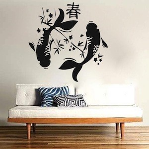 Japanese koi fish wall decal from trendy wall designs for Koi wall sticker