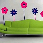 Jolly Flowers Wall Decals
