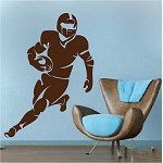Football Player Wall Art Appliqué