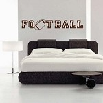 Football Wall Decal 20f