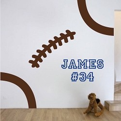 Football Stitches Wall Decal