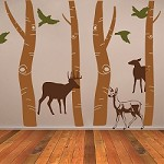 Tall Forest Tree Wall Art Design