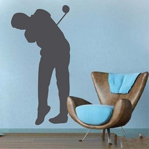 Golfer Wall Art Design