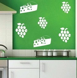 Cheese & Grapes Wall Decal