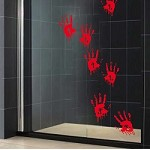 Bloody Handprints Halloween Stickers