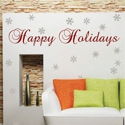 Happy Holidays Wall Cling