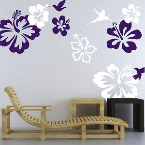 Hummingbirds And Flowers Decals