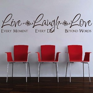 Live Laugh Love Wall Quote Saying