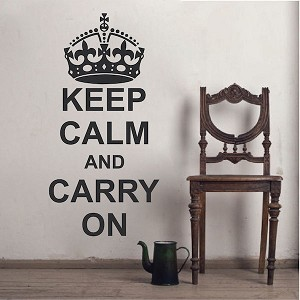 Keep Calm And Carry On Wall Decal Saying