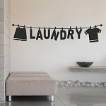 Laundry Wall Decal 15m