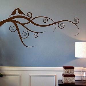 Love Bird Branch Wall Art Design Trendy Wall Designs