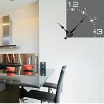 Modern Corner Clock Decal