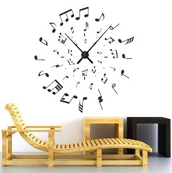 Music Clock Decal