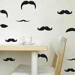 Mustache Wall and Mug Decals