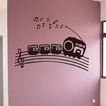 Music Choo Choo Train Wall Decal