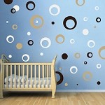 Thick Rings & Dots Wall Art Design