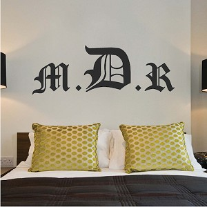 Old English Monogram Wall Decal