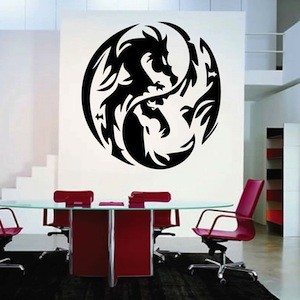 Dragon Circle Wall Decal
