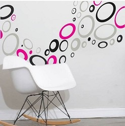 Multi Size Hoops Wall Stickers