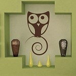 Cute Owl Wall Art Design