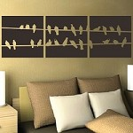 Birds On Wire Panel