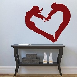 People Heart Wall Cling