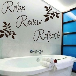 Relax Renew Refresh Wall Quote