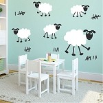 Happy Sheep Wall Decals