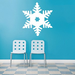 snowflake wall decal trendy wall designs. Black Bedroom Furniture Sets. Home Design Ideas