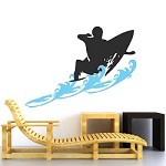 Surfer Wall Decal With Waves