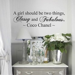 Coco Chanel Wall Quote Decal