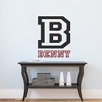 Sport Initial Bedroom Name Wall Decal