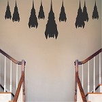 Sleeping Bats Halloween Decal Stickers