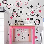 Circular Rings & Dots Wall Decals