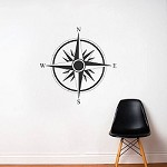 Direction Compass Decal
