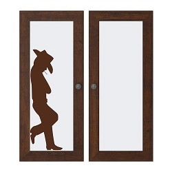 Leaning Cowboy Decal Sticker