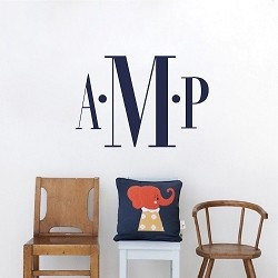 Bedroom Monogram Wall Decal