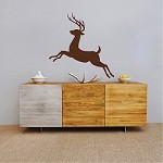 Deer Jumping Mural Decal Sticker