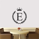 Wreath Name Initial Wall Decal