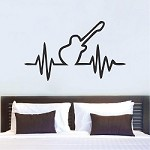 Guitar Beat Bedroom Decal Sticker